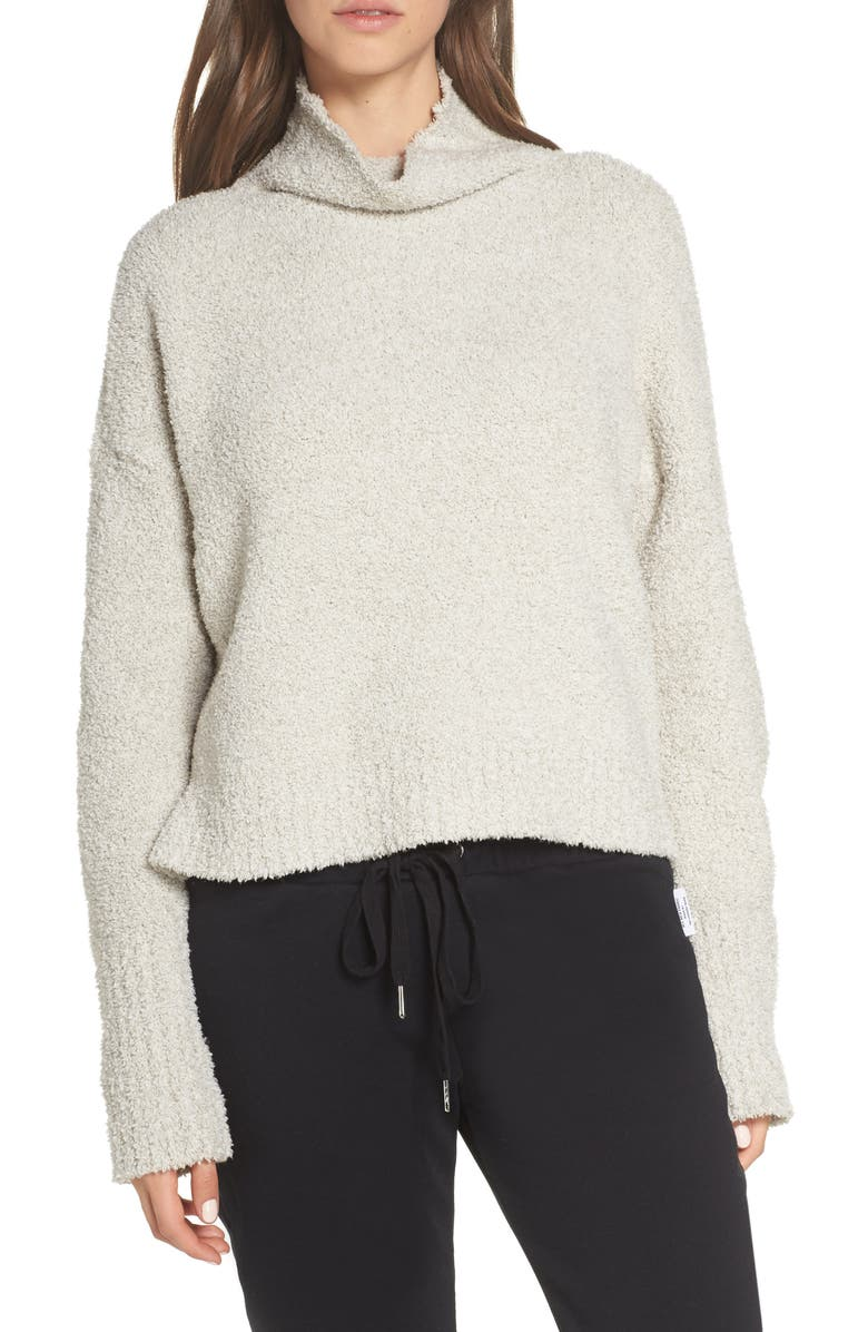 UGG<SUP>®</SUP> Sage Cowl Neck Pullover, Main, color, DRIFTWOOD