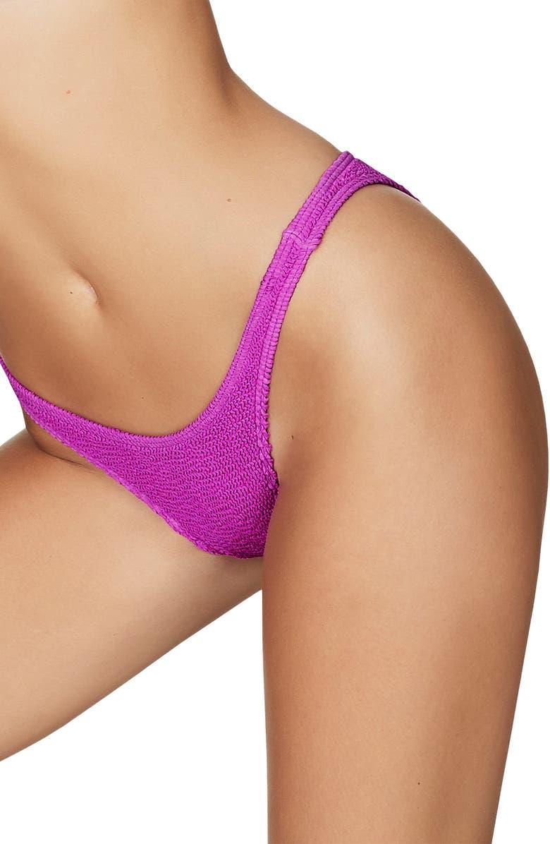 BOUND BY BOND-EYE The Scene High-Cut Ribbed Bikini Bottoms, Main, color, CARLTON