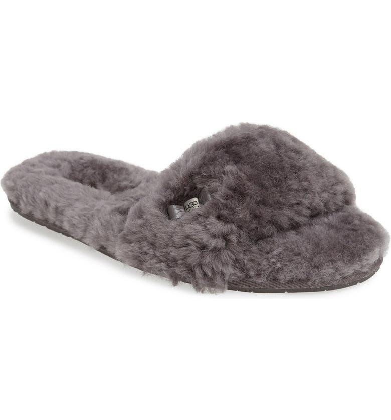 UGG<SUP>®</SUP> 'Fluff' Slide Slipper, Main, color, 020