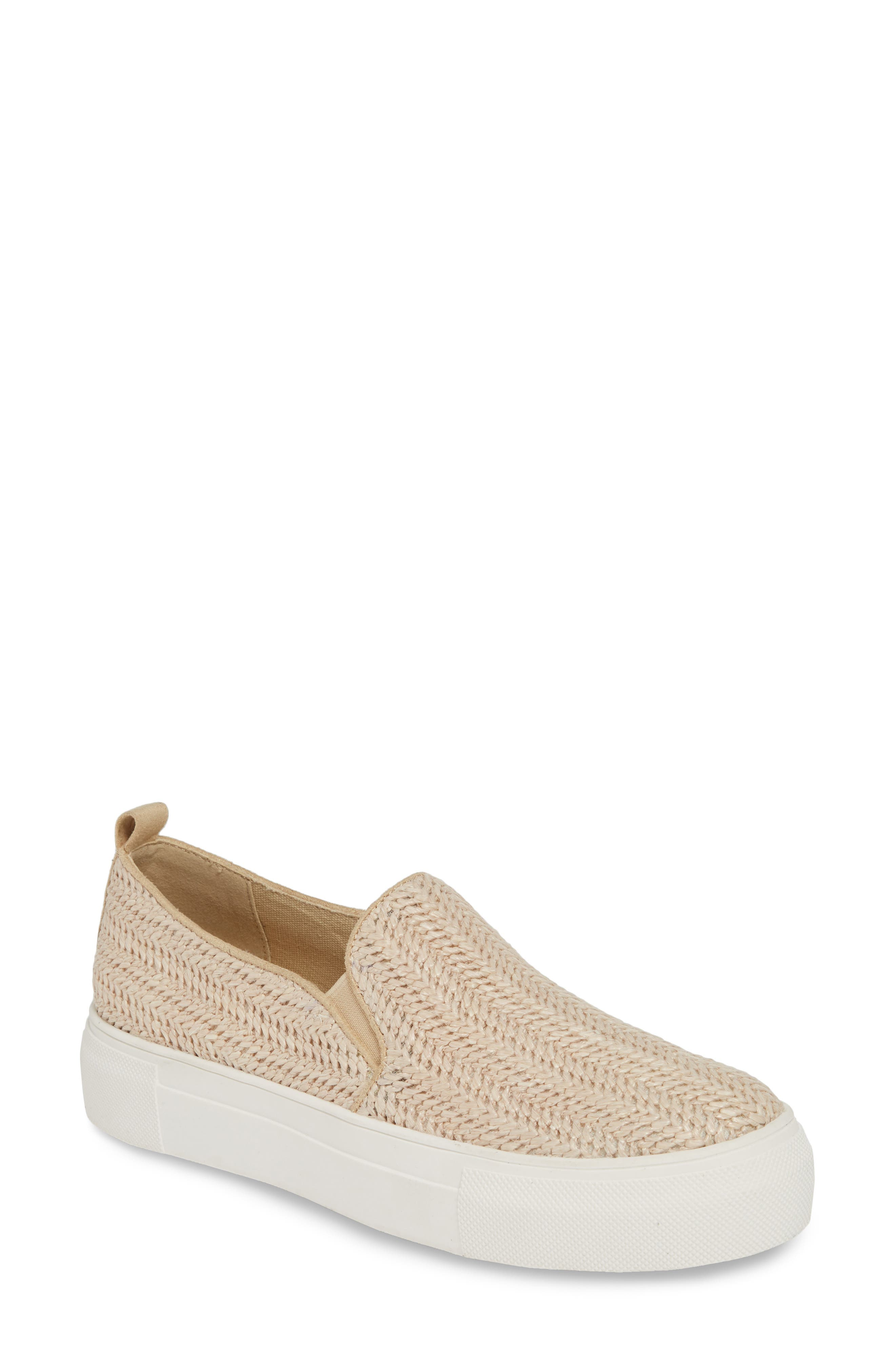 Mia Ela Woven Platform Sneaker, Beige