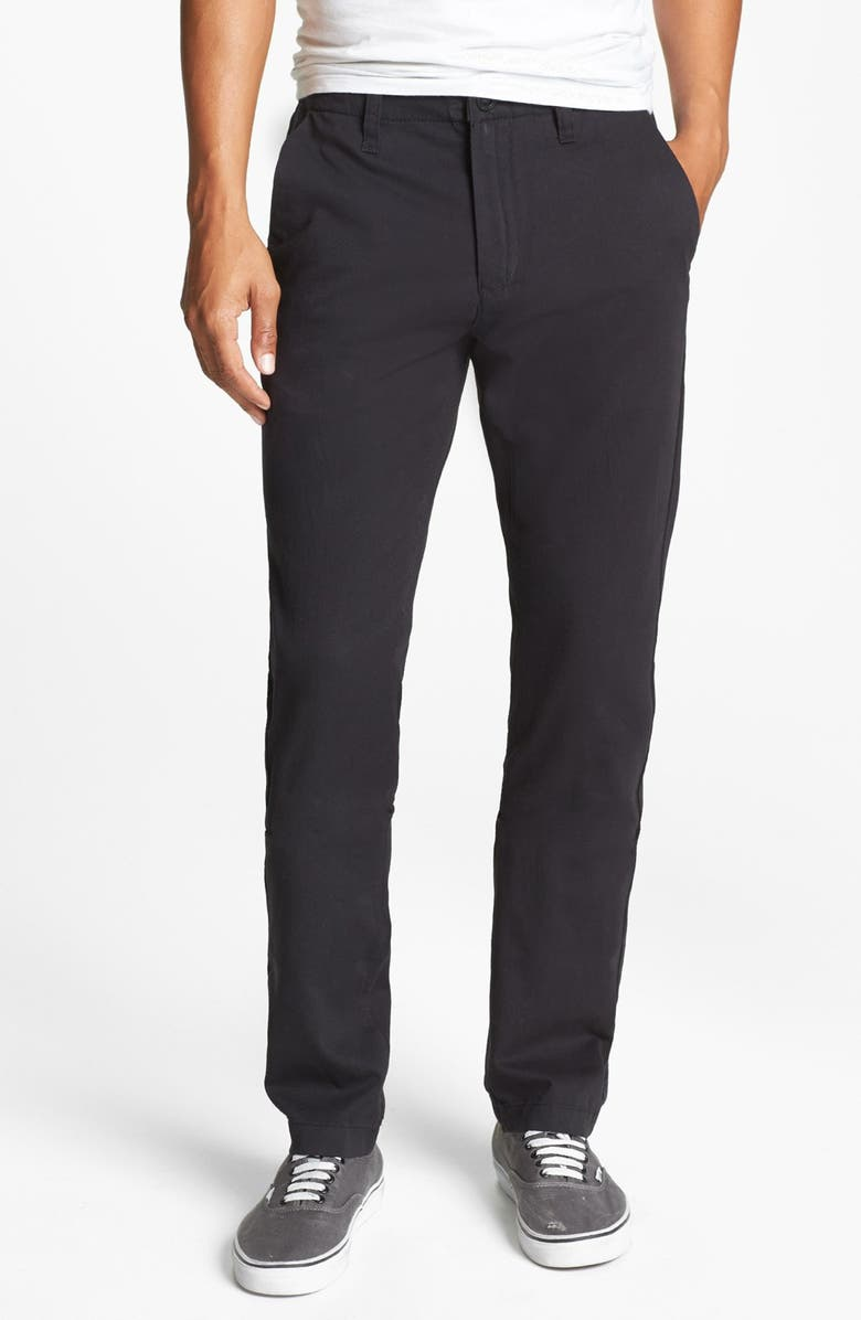 VOLCOM 'Faceted' Tapered Chinos, Main, color, 001