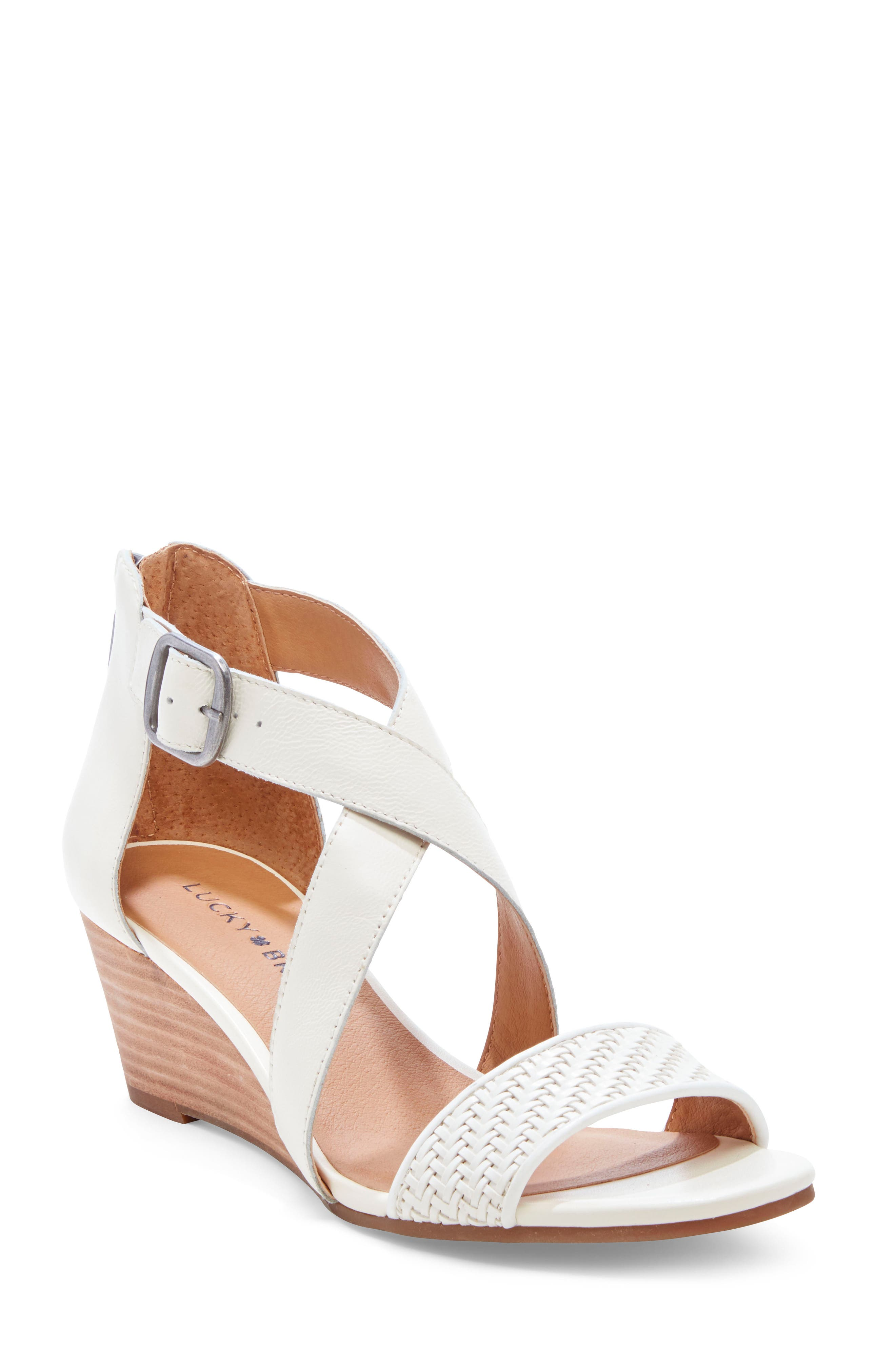 ,                             Jestah Wedge Sandal,                             Main thumbnail 1, color,                             MILK LEATHER