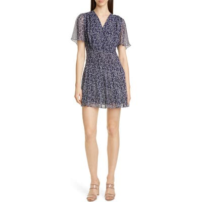 Equipment Lisle Ditsy Print Silk Dress, Blue