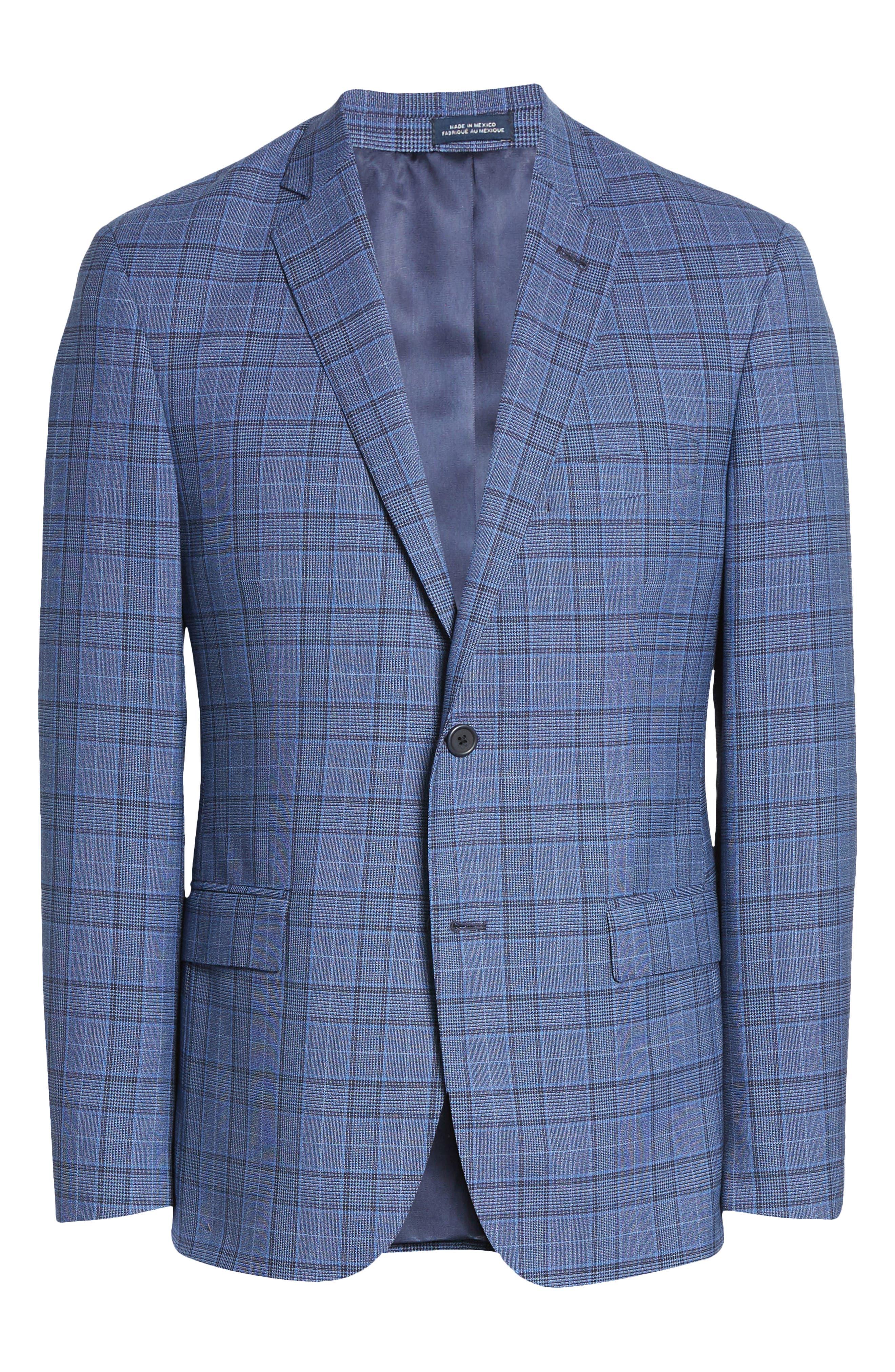Image of John W. Nordstrom Traditional Fit Glen Plaid Wool Sport Coat