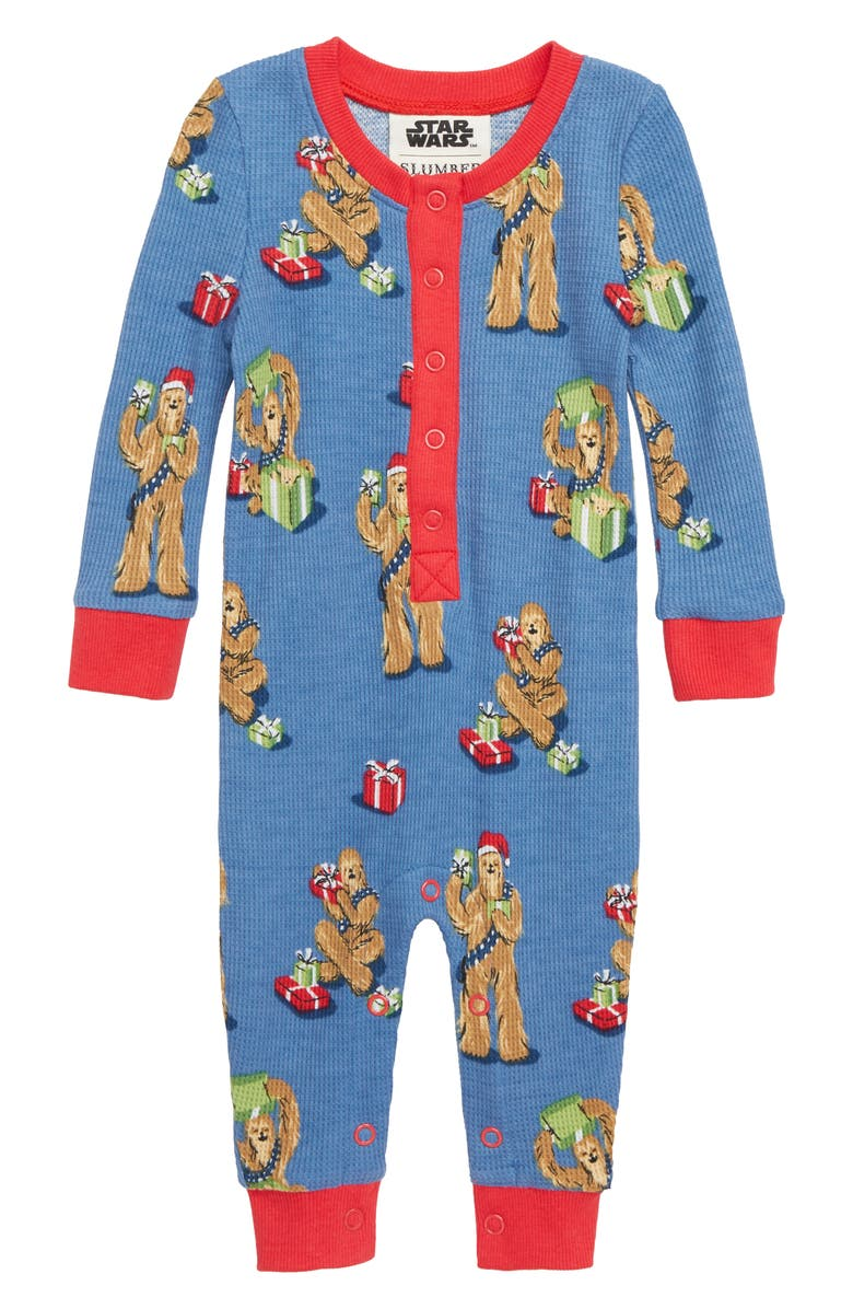 962e65f0 x Star Wars Christmas Chewbacca Fitted One-Piece Pajamas, Main, color, 400
