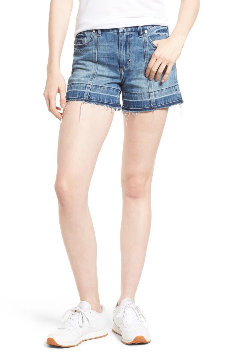 HABITUAL Crosby Release Hem Denim Shorts, Main, color, SYCAMORE