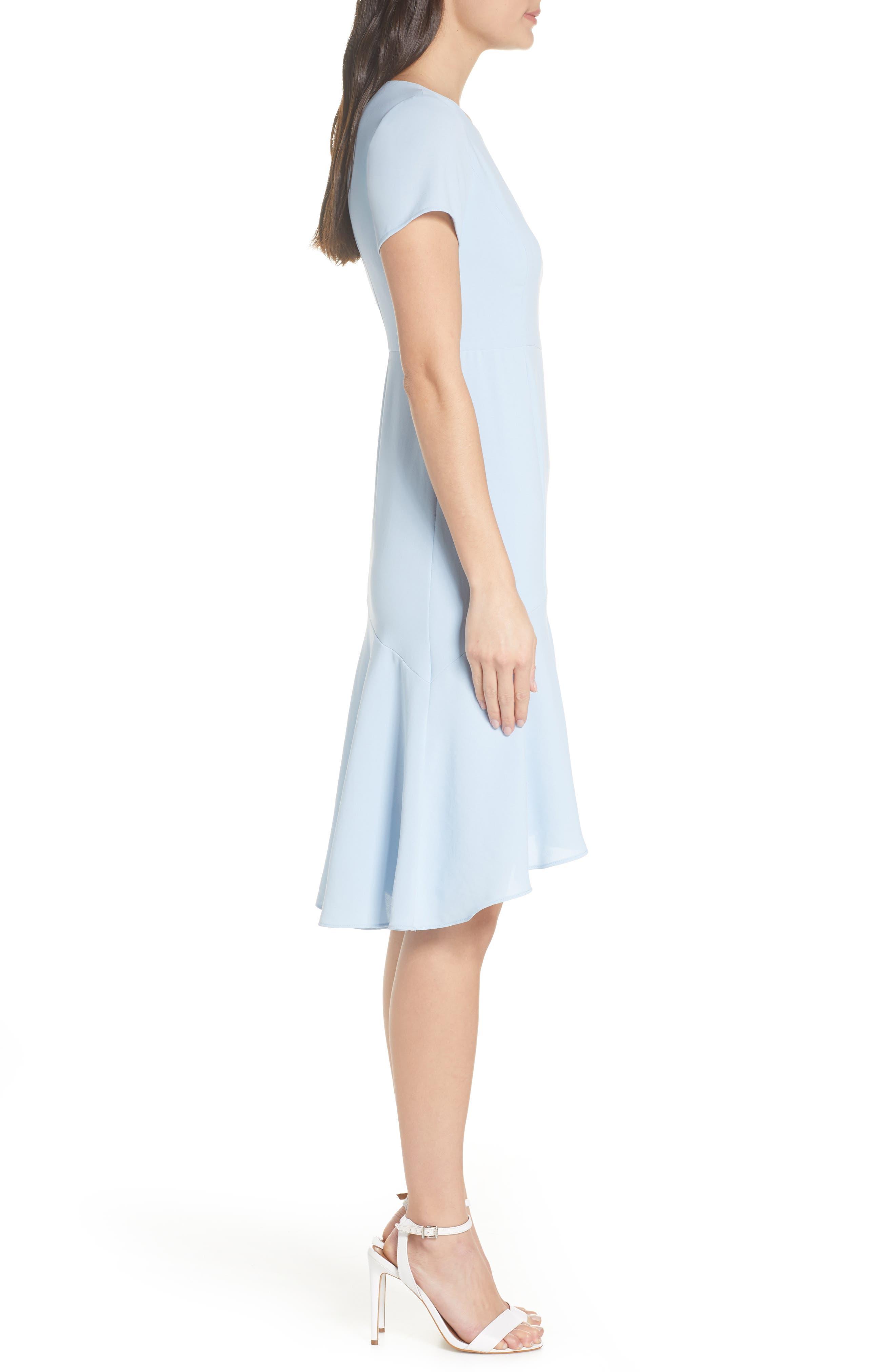 ,                             High/Low Sheath Dress,                             Alternate thumbnail 4, color,                             PALE BLUE