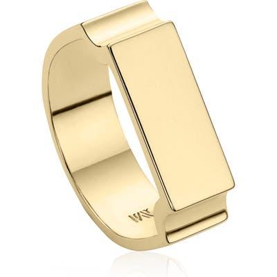 Monica Vinader Engravable Wide Signature Ring