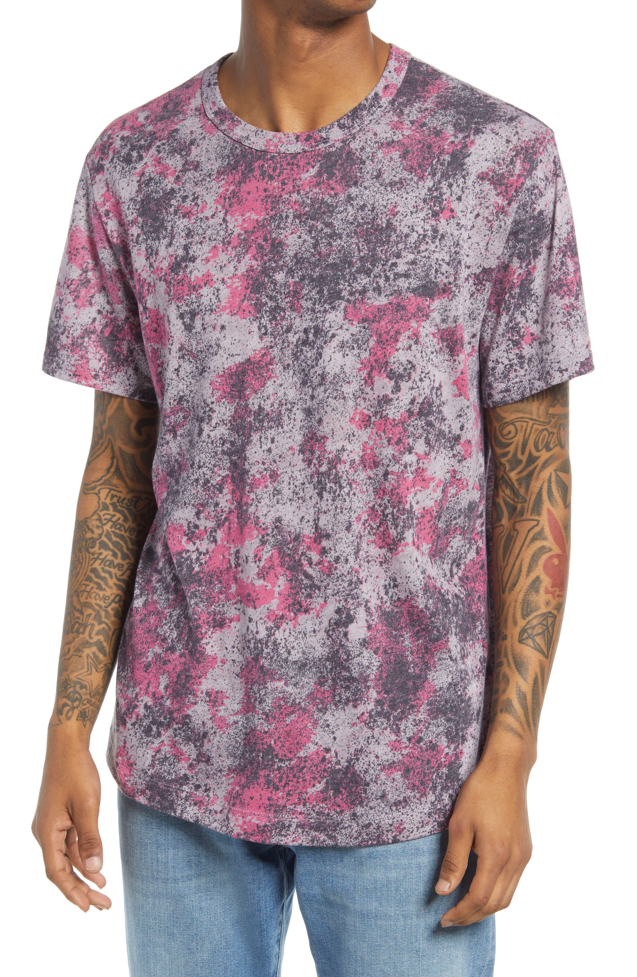 Men's Eco-Jersey Shirttail Printed T-Shirt