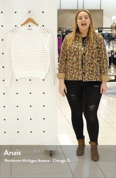 Margot Sheer Stripe Sweater, sales video thumbnail