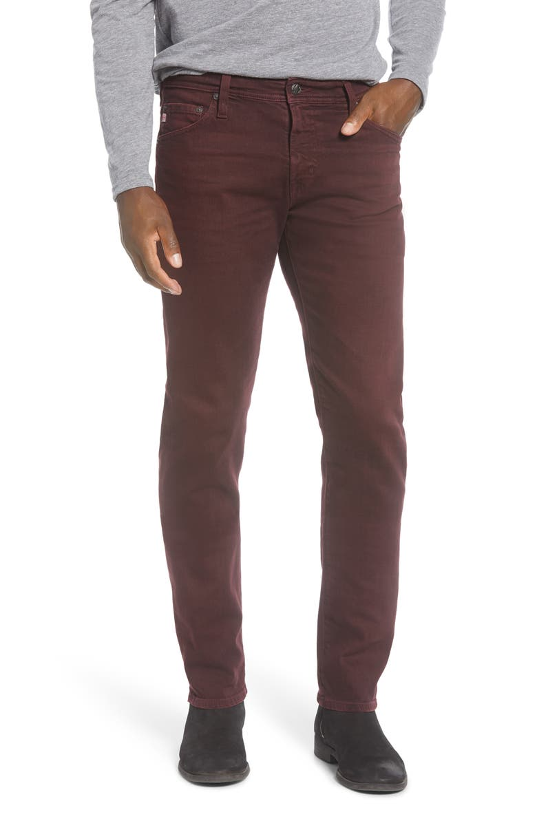 AG Tellis Slim Fit Jeans, Main, color, 7 YEARS SULFUR BOYSENBERRY