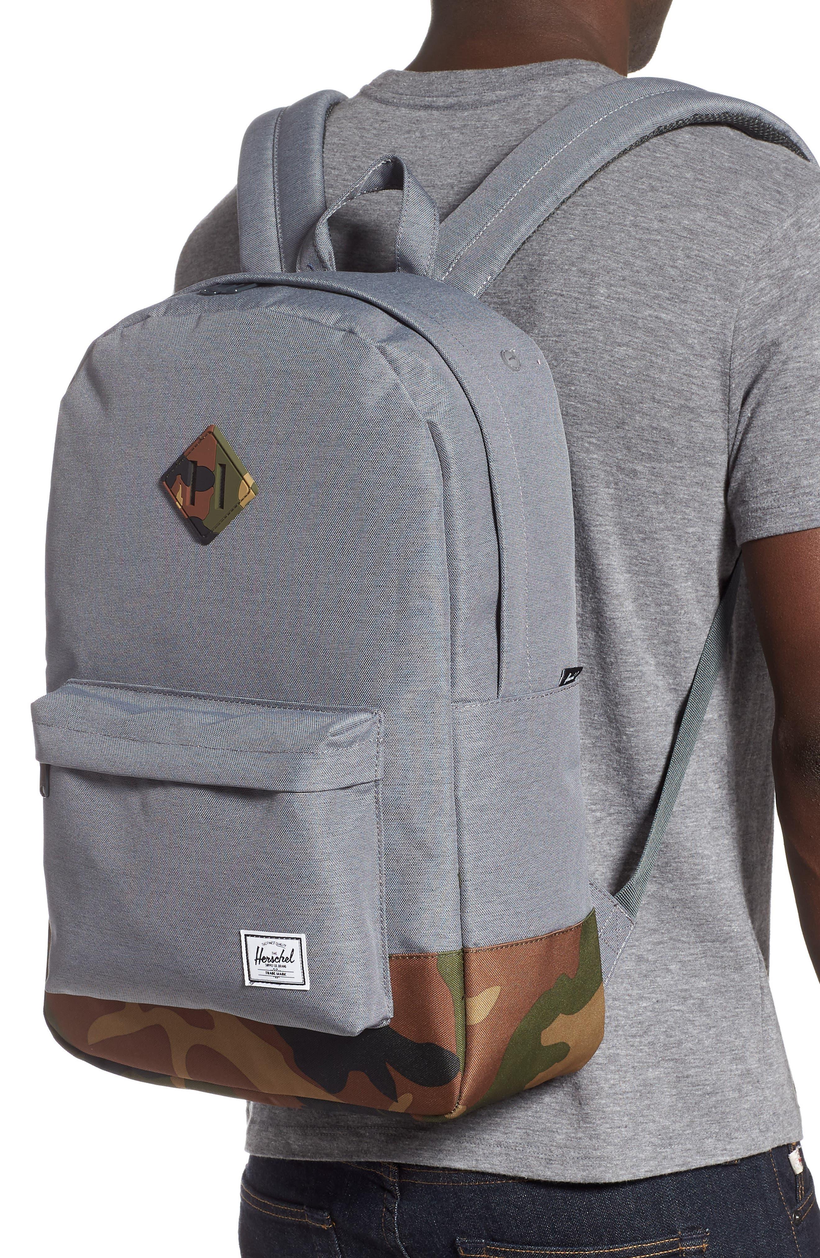 ,                             Heritage Camo Trim Backpack,                             Alternate thumbnail 2, color,                             GREY CROSSHATCH/WOODLAND CAMO
