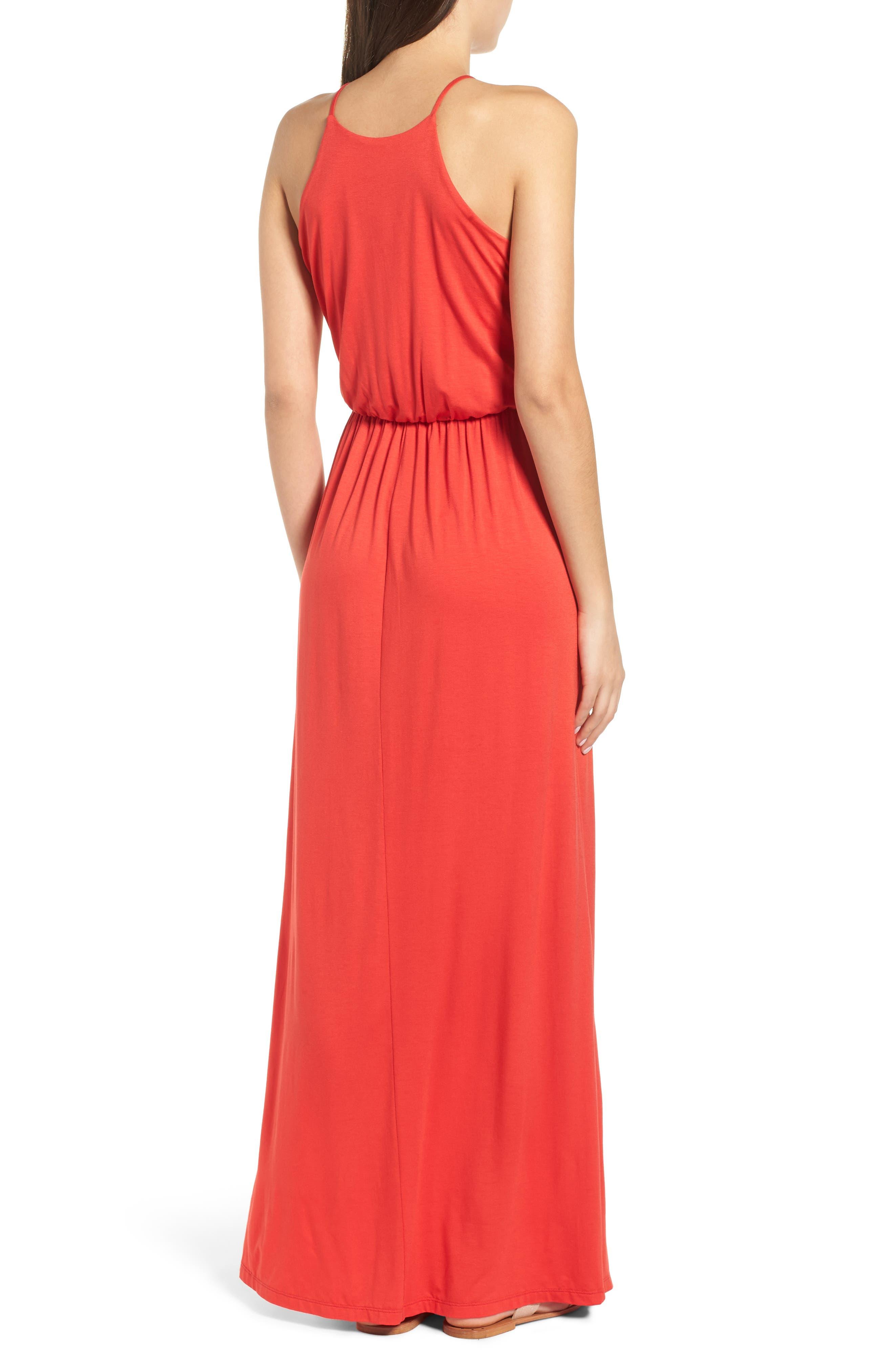 ,                             High Neck Maxi Dress,                             Alternate thumbnail 24, color,                             602