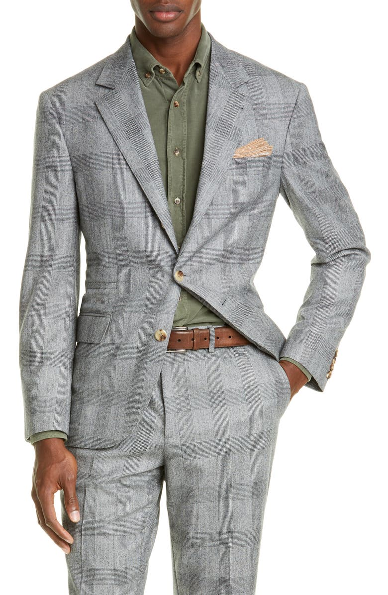 BRUNELLO CUCINELLI Leisure Fit Corduroy Shirt, Main, color, DARK GREEN