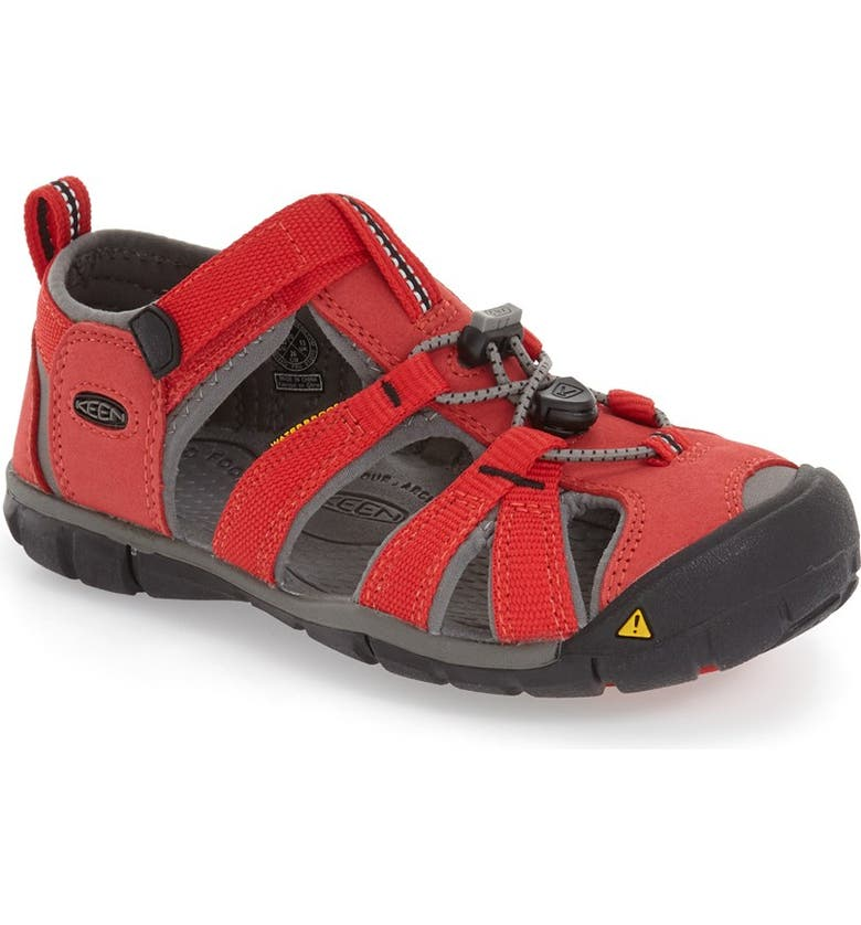 KEEN Seacamp II CNX Water Friendly Sandal, Main, color, RACING RED/ GARGOYLE
