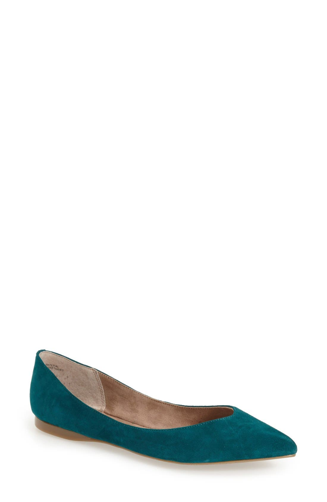 ,                             'Moveover' Pointy Toe Leather Flat,                             Main thumbnail 17, color,                             343