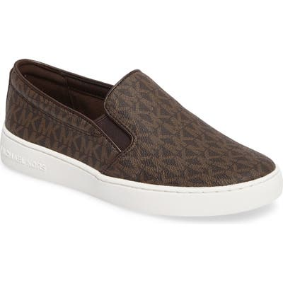 Michael Michael Kors Keaton Slip-On Sneaker, Brown
