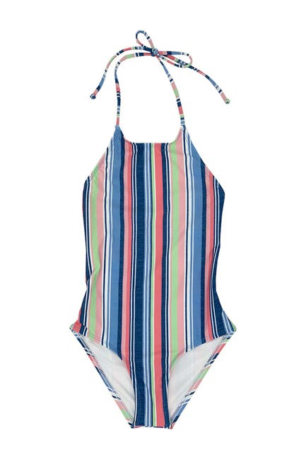 Image of Splendid Holding Pattern High Neck One-Piece Swimsuit