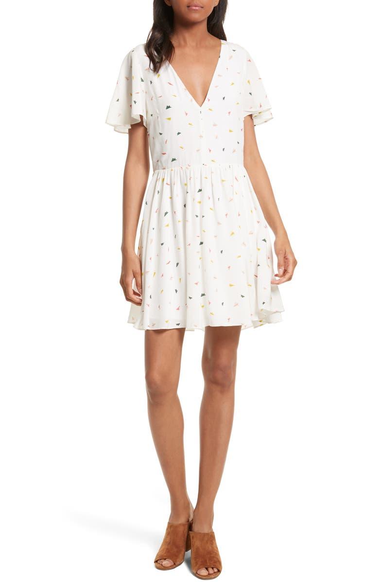 REBECCA MINKOFF Crosby Minidress, Main, color, 100