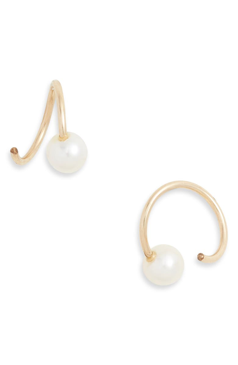 WOLF CIRCUS Pearl Swirl Stud Earrings, Main, color, 710