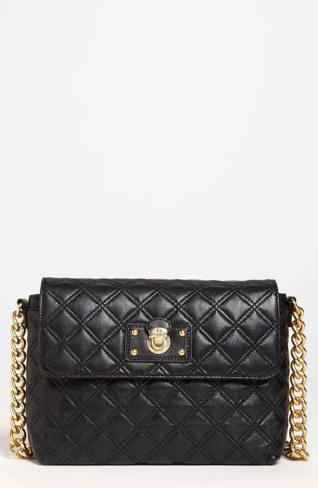 ,                             'Large Quilting Single' Leather Shoulder Bag,                             Main thumbnail 9, color,                             004