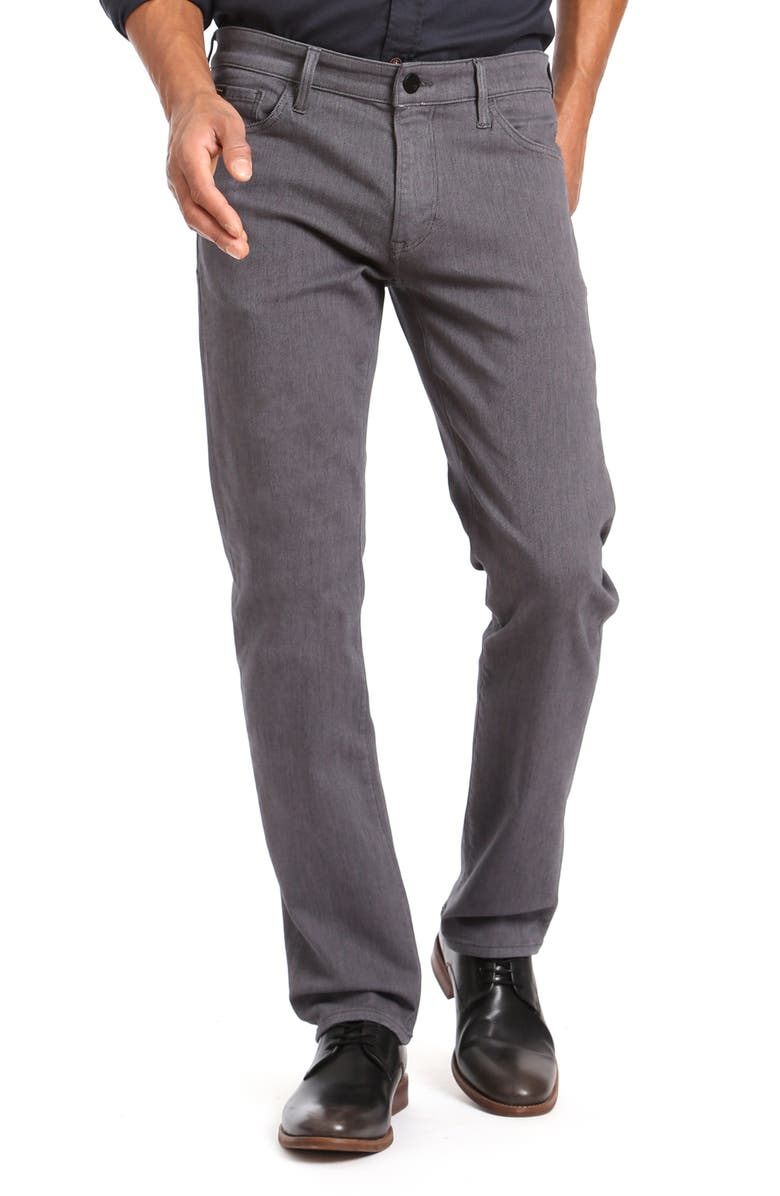 34 HERITAGE Cool Slim Straight Leg Twill Pants, Main, color, GREY DIAGONAL