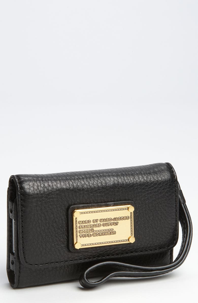 MARC JACOBS MARC BY MARC JACOBS 'Classic Q' Phone Wallet, Main, color, 001