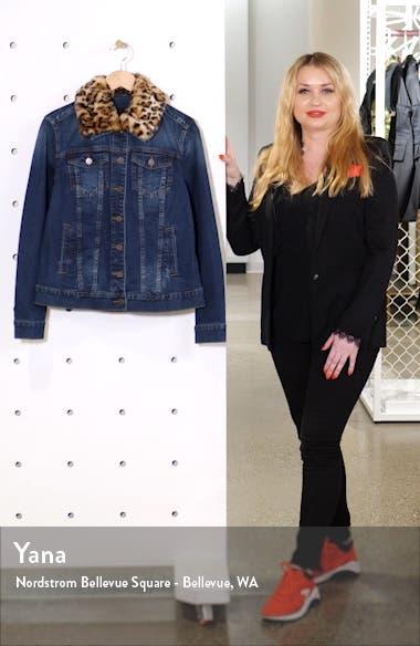 Emma Faux Fur Collar Denim Jacket, sales video thumbnail