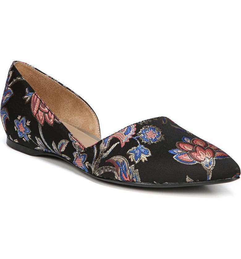 NATURALIZER Samantha Half d'Orsay Flat, Main, color, 001