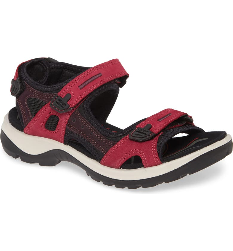 ECCO Yucatan Sandal, Main, color, SANGRIA/ FIG NUBUCK