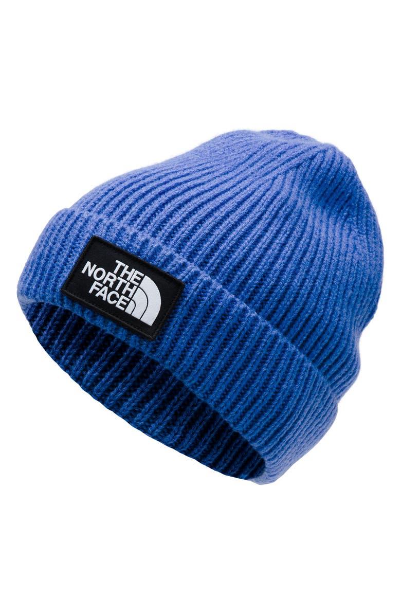 THE NORTH FACE Logo Box Cuffed Beanie, Main, color, TNF BLUE