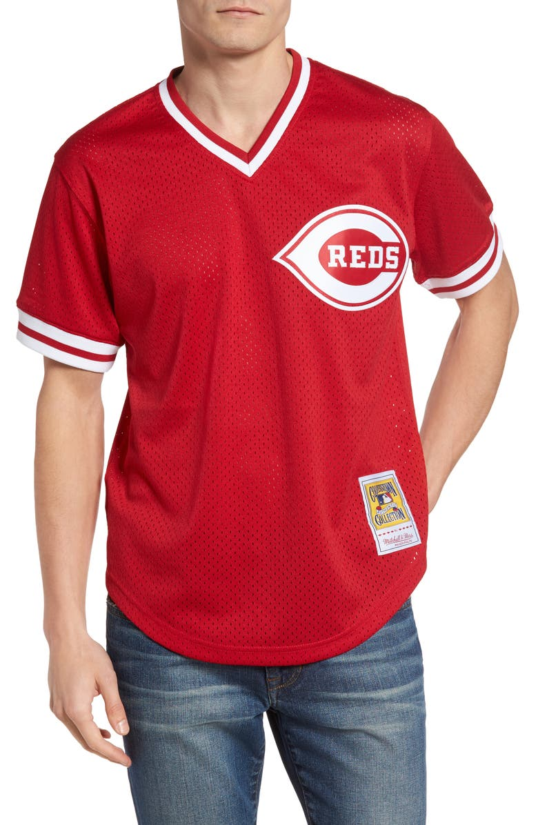 new style f447a 3413e Barry Larkin Cincinatti Reds Authentic Mesh Jersey