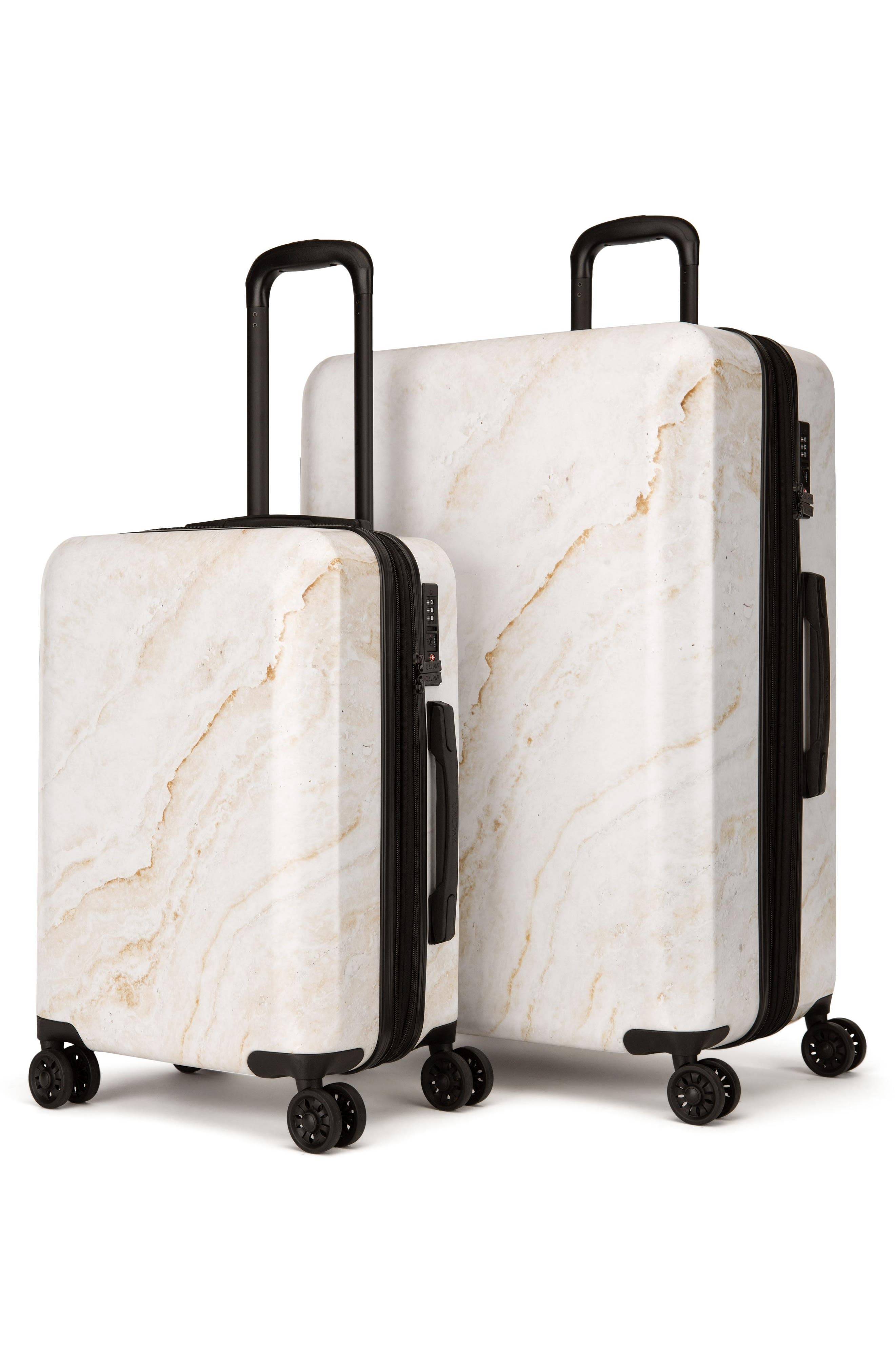 ,                             Gold Marble 30-Inch & 22-Inch Hardshell Spinner Suitcase & Carry-On Set,                             Alternate thumbnail 2, color,                             GOLD MARBLE