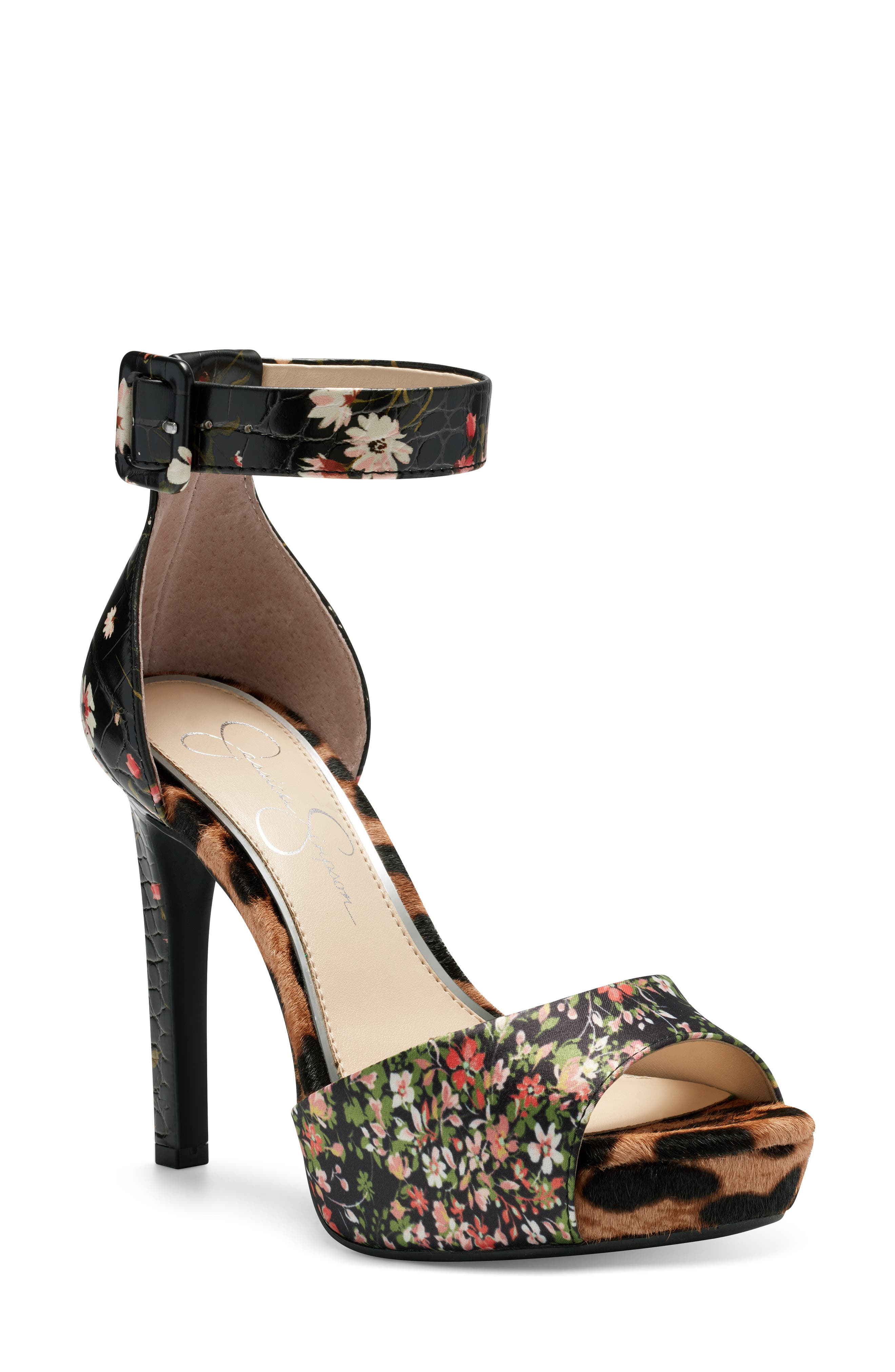 Mixed patterns heighten the eclectic retro style of this standout platform sandal. Style Name: Jessica Simpson Divene Sandal (Women). Style Number: 5869758 3. Available in stores.