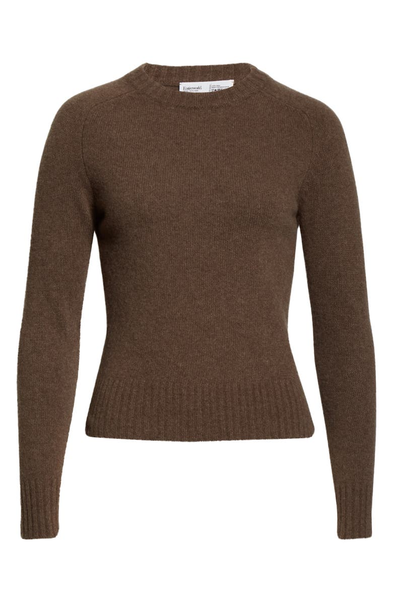 ENTIREWORLD Type A Version 10 Wool Sweater, Main, color, BROWN