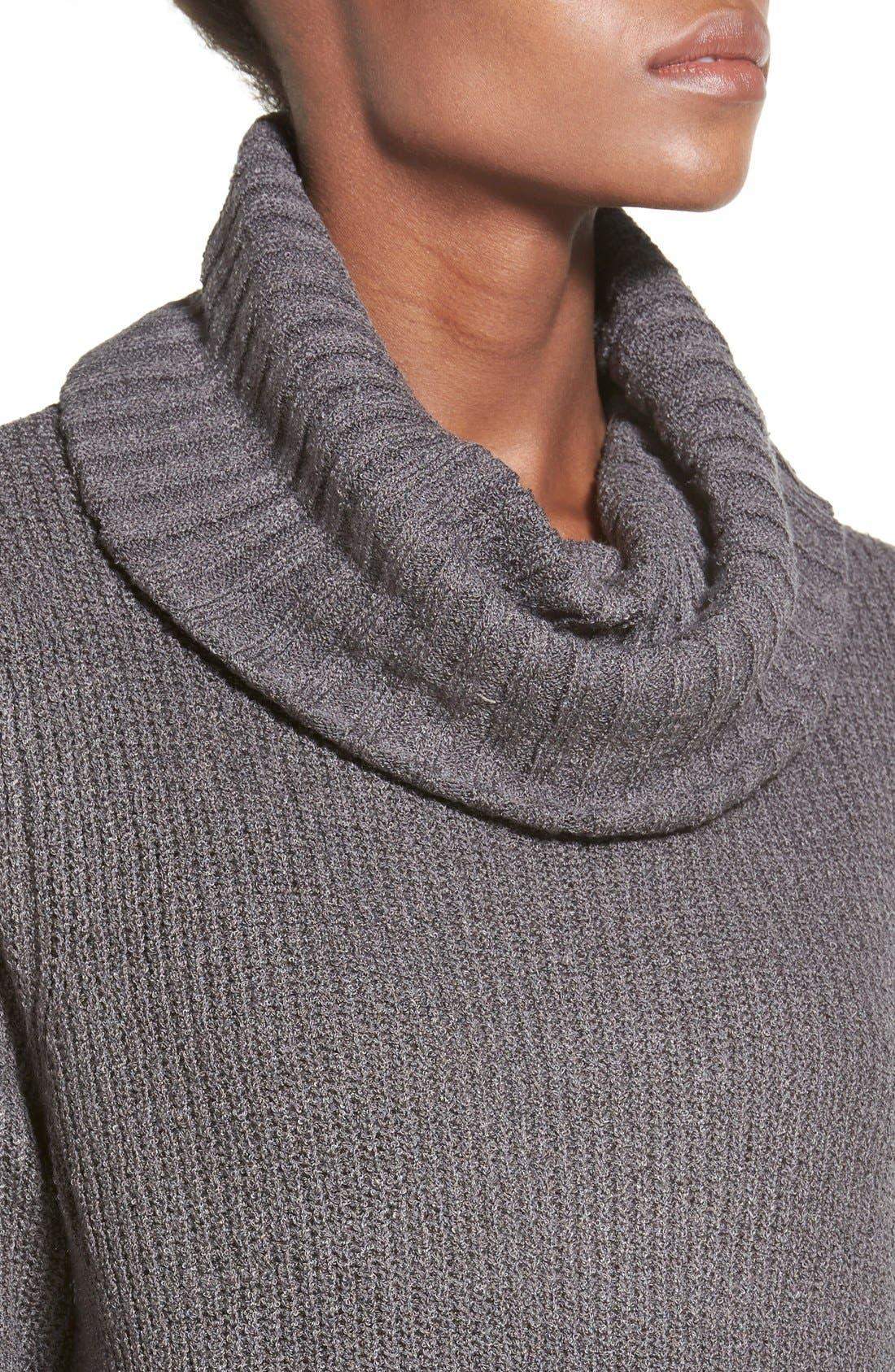 ,                             Cowl Neck Sweater Dress,                             Alternate thumbnail 5, color,                             021