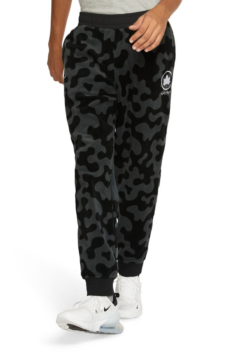 NIKE Sportswear NYC Parks Pants, Main, color, BLACK/ SEAWEED