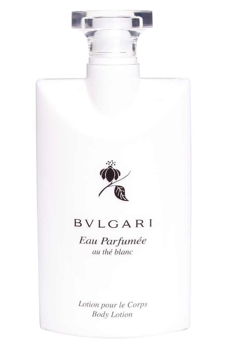 BVLGARI 'Eau Parfumée au thé blanc' Scented Body Lotion, Main, color, 000