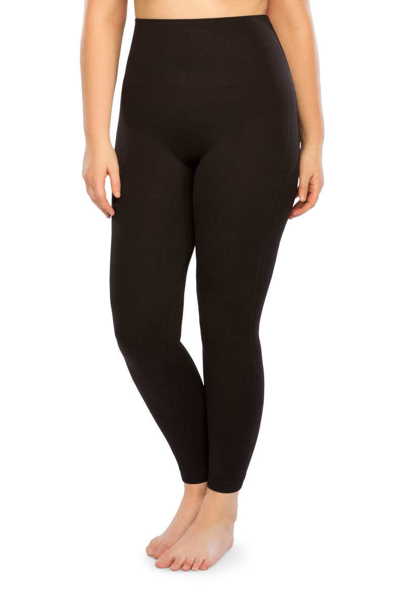 SPANX<SUP>®</SUP> Look At Me Now Seamless Leggings, Main, color, VERY BLACK