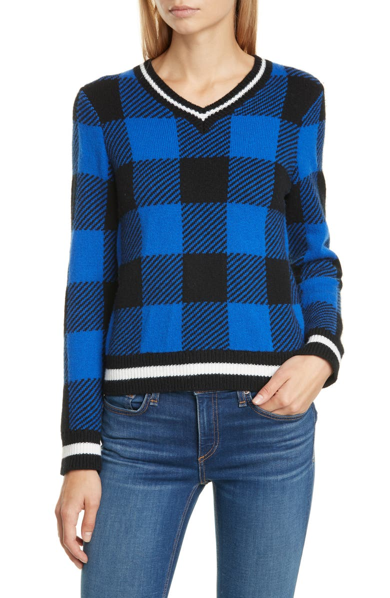 Gabby Buffalo Check Merino Wool Sweater by Rag & Bone