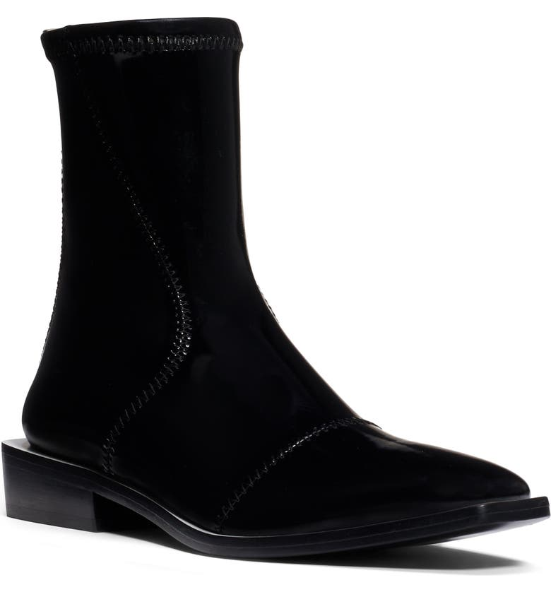 FENDI Tronchetto Stretch Bootie, Main, color, BLACK PATENT