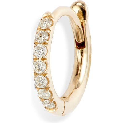 Zoe Chicco Pave Diamond Huggie Hoop Earring