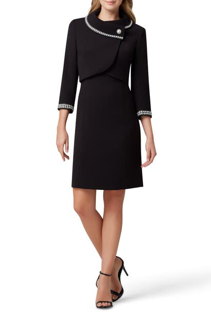 Tahari Dresses IMITATION PEARL JACKET & SHEATH DRESS