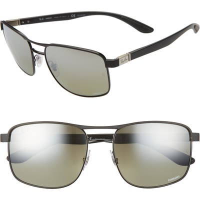 Ray-Ban 5m Chromance Polarized Sunglasses - Black/ Grey/ Grey