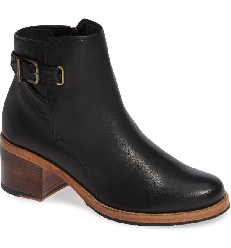 CLARKS<SUP>®</SUP> Clarkdale Jax Bootie, Main, color, BLACK LEATHER