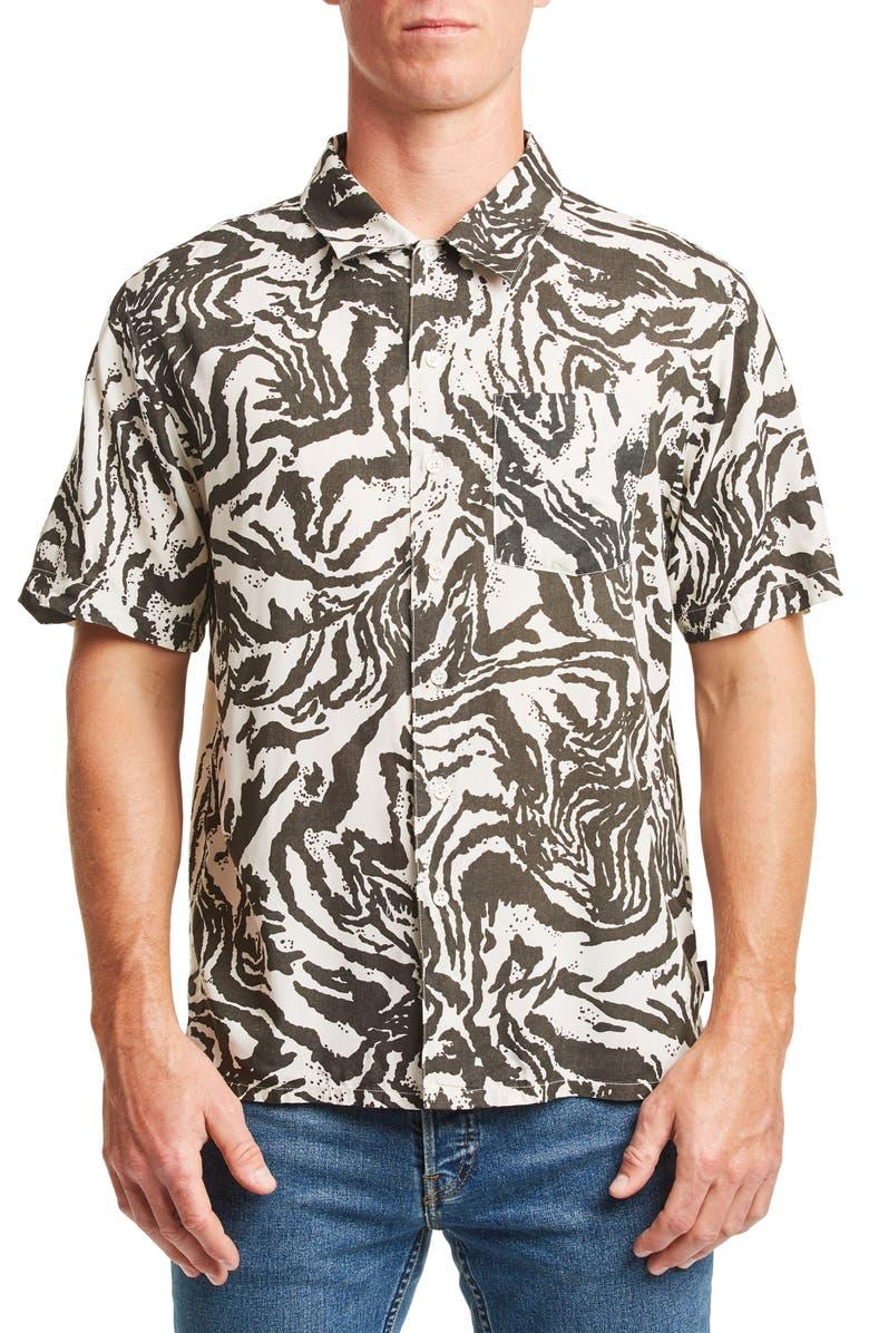 BRIXTON Lovitz Print Woven Shirt, Main, color, 001