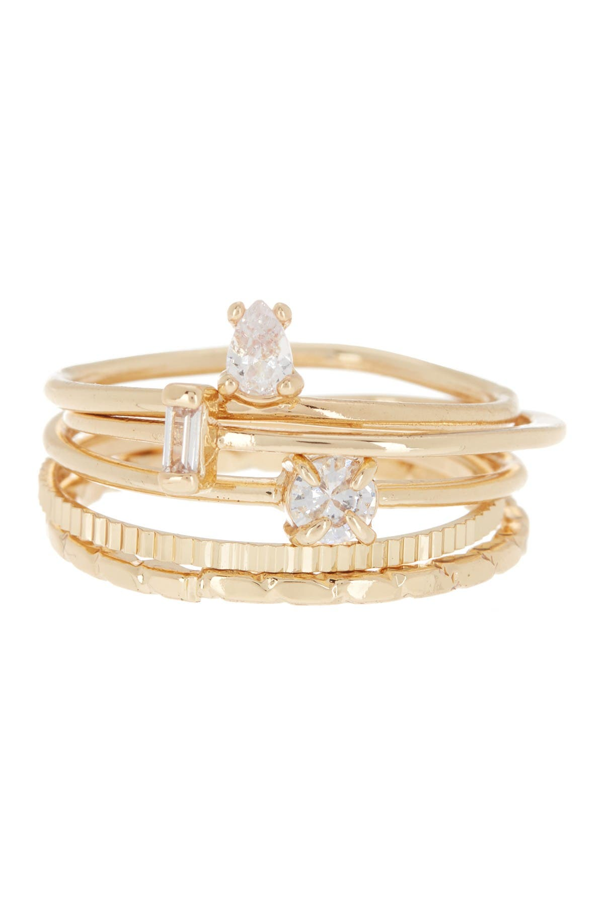 Image of Loren Olivia Dainty Bling Stackable Ring Set