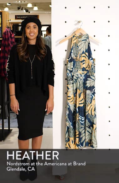 Floral Print Strappy Back Dress, sales video thumbnail