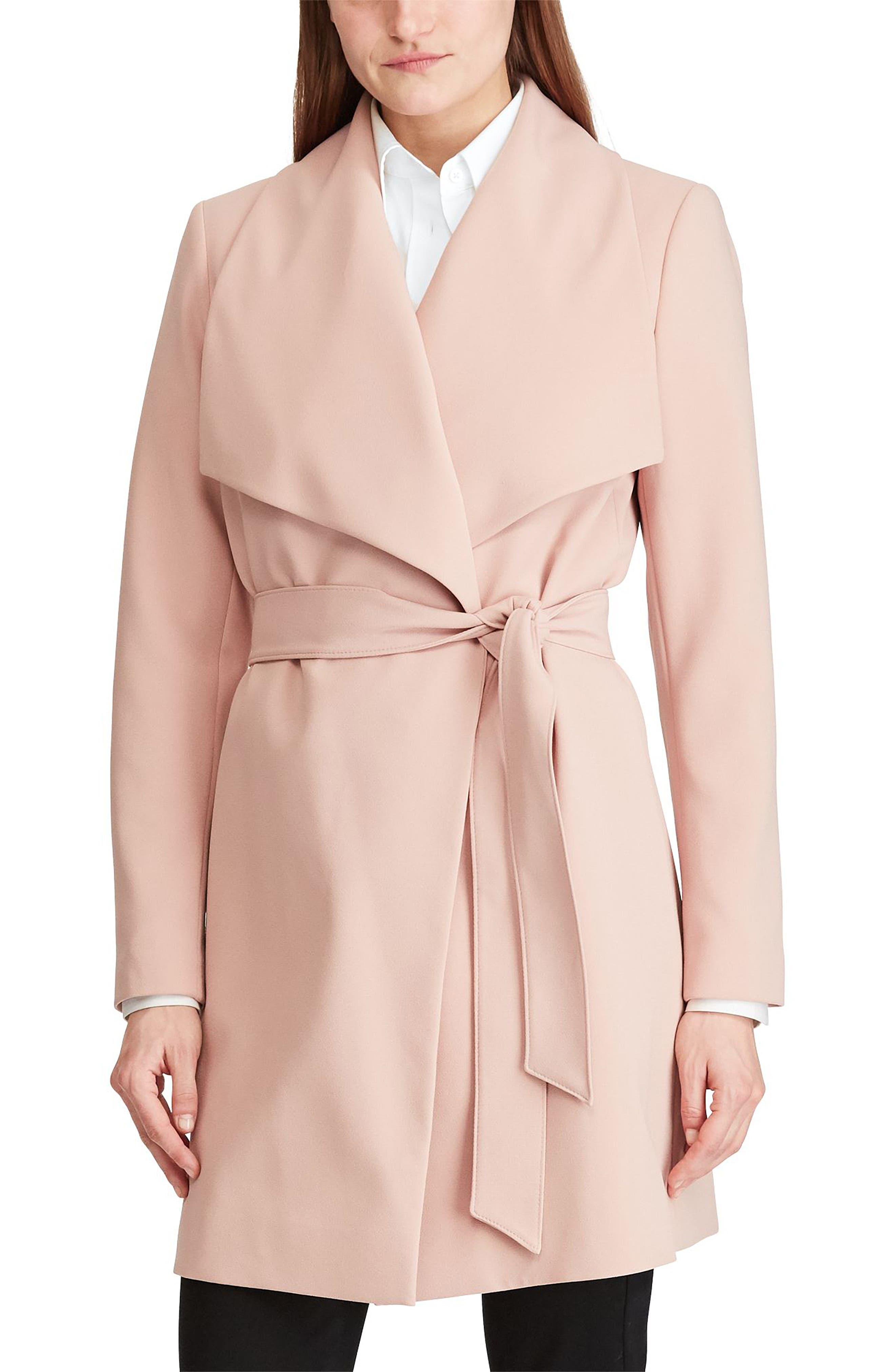 ,                             Belted Drape Front Coat,                             Main thumbnail 30, color,                             695