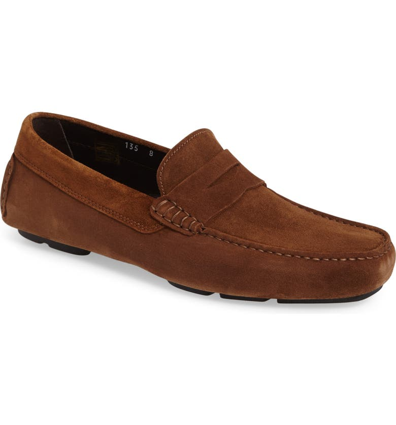 TO BOOT NEW YORK Mitchum Driving Shoe, Main, color, BROWN/ BROWN SUEDE